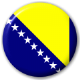 Bosnia Country Flag 25mm Pin Button Badge